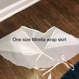 White ballet wrap skirt